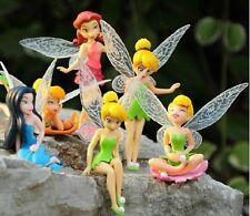 Children Disney Doll Fairies 6Pcs Set Tinkerbell Action Figure Fairy Cake Topper