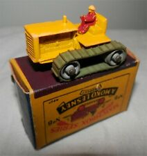 RED DRIVER.YELLOW HAT.1950s Lesney Matchbox 8 Caterpillar Tractor'.alMint in box