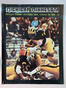 1974 Michigan Wolverines vs Minnesota Gophers