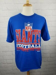 Vintage 90s NFL New York Giants T-Shirt Mens Large Russell Athletic Made in USA