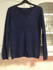 Women's Marks & Spencer knitwear Long Sleeve Jumper size 8 V-neck colour blue