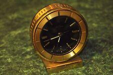 Vintage Tabletop Desktop Solid Brass Stand Alarm Clock Seth Thomas Germany