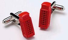 Mens Red Telephone Box Novelty Cufflinks & Gift Box By Onyx Art