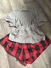 Victorias Secret Boxy Pijama Conjunto Talla XL 14-16 Nuevo