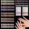 24Pcs/Set False Nail Tips Gradient Full-Cover Long Coffin Fake Nail Art Manicure