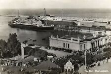 THE PIER DUN LAOGHAIRE DUBLIN IRELAND RP POSTCARD by VALENTINES POSTED in 1961