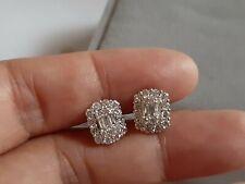 Diamond earring 18k white gold 1carat tct