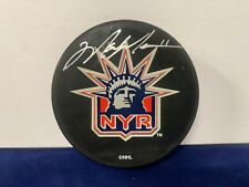 Mark Messier Autographed Signed Licensed NHL Rangers Liberty Puck Steiner SOA