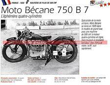 MOTOBECANE 750 B7 1930 Fiche Moto 000218