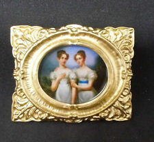 Dollhouse Miniature SALE GOLD FRAME PICTURE FRENCH BAROQUE (REF6)