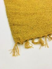 Plain Mustard Yellow Handloomed ECO Friendly Recycled Cotton Rich Rugs 60x90cm
