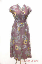 L165/10 Whistles Summer Ethnic Style Cotton Floral Long Wrap Dress, UK 14