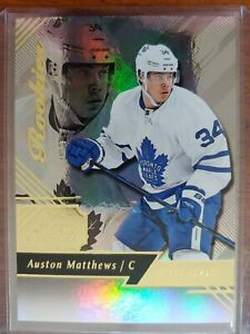 2016-17 Fleer Showcase Flair #21 Auston Matthews R0 Rookie Card