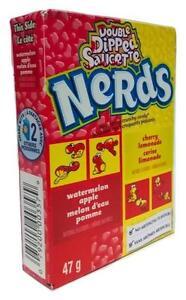 Nestle Double Dipped Saucette Watermelon Apple & Cherry Lemonade Nerds 47g - New