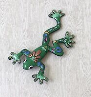 Unique Vintage Style Large  Leaping Frog Brooch in enamel on metal
