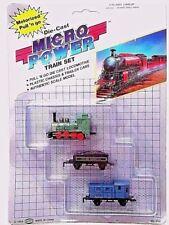 Vintage Die-Cast Locomotive Micro Power - Diecast Soma Green Train Set 1989 New!