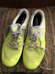 Nike Grip Metcon DSX Flyknit Athletic Cross Training Shoes Mens 11.5 M Glow