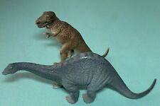 2002 Schleich Germany Apatosaurus &  Tyrannosaurus Dinosaur Toy Model Figures