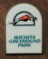 Vintage 1990 Wichita Greyhound Park Full Color Enamel Souvenir Pin Kansas Racing