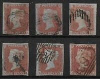 SG8. 1841-1d.Imperf. Six 3-4 Margin Examples. FU. Cat.£210. Ref.11139