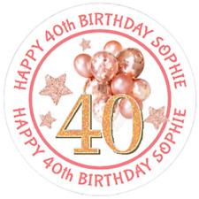 48 Personnalisé Fête Sac stickers Mickey Mouse Sweet Sac Seals 40 mm étiquettes