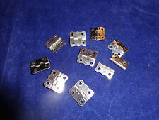 """10 Vintage Steel Scalloped Butterfly Hinges #3 1/2"""" x 5/8"""" - NOS"""