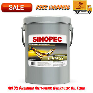 AW 32 Premium Anti-wear Hydraulic Oil Fluid - 5 Gallon Pail (18L - 4.75 GAL)