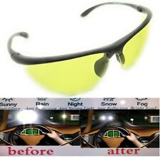 74a3f8a47125 HD Aviator Sunglasses Driver Night Vision Driving Glasses Yellow Lens Anti  Glare