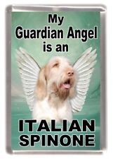 "Italian Spinone Dog Fridge Magnet ""My Guardian Angel is a ......."" by Starprint"