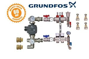 GRUNDFOS UNDERFLOOR HEATING MANIFOLDS 2 TO 8 PORTS A RATED PUMP PACK KIT