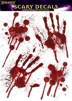 Halloween Bloody Hand Print Stickers Scary Decoration Zombie Dead Party Prop