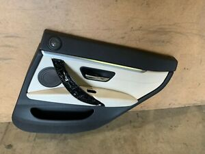 BMW F36 GRAN COUPE REAR RIGHT PASSENGER SIDE DOOR PANEL CARD WHITE OEM 44K