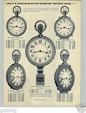 1905 PAPER AD Grout's Excelsior Signs Pocket Watch Jewelery Clocks Wedding Rings