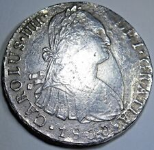 1800 Spanish Silver 8 Reales Ship wreck Eight Real Colonial Pirate Treasure Coin