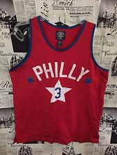 Philly #3 Steve & Barry's Outfitters Red Stitched Basketball Jersey Medium M