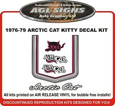 1976 1977 1978 1979  ARCTIC CAT Kitty Cat Reproduction Decal kit