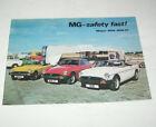 Prospectus/Brochure MG Midget, Mgb, Mgb Gt - Edition 1978