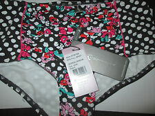 MOONTIDE FULL BIKINI BRIEFS MINK FLORAL UK 8 SCREEN SIRENS 50's NEW WITH TAGS