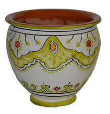 Ceramic Plant Flower Planter Pot Moroccan Spanish Garden Drain Hole Terracotta