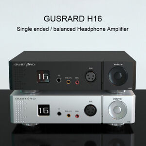 GUSTARD H16 HiFi Single Ended XLR/RCA OLED Display Balanced Headphone Amplifier