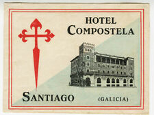 Antique Label Suitcase Hotel St Yves - Avignon, Old Luggage Label
