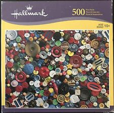 """""""COLLECTION OF BUTTONS"""" HALLMARK 500 PIECE PUZZLE •TOP QUALITY EASY GRASP PIECES"""