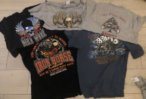 Harley Davidson T-Shirt - Men's - Vintage Biker Chopper Hog Sturgis Daytona