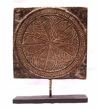 Indian Old Vintage Hand Carved Decorative Wooden Bracket With Stand WD 001