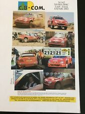 DECALS 1/43 CITROEN XSARA SEBASTIEN LOEB RALLYE SAFARI 2002 RALLY WRC