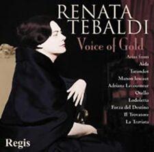 CD RENATA TEBALDI VOICE OF GOLD OPERA VERDI PUCCINI CILEA MASCAGNI GIORDANO