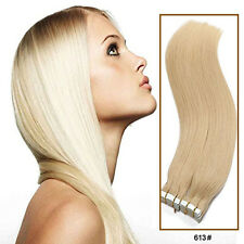 "US STOCK 18"" 20"" 22"" 24"" Remy Tape In Straight 100% Human Hair Extensions BS035"