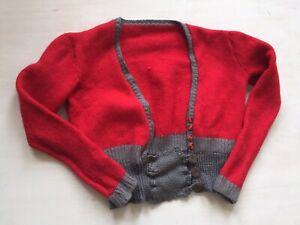 Vtg 1930s 40s Womens Handknitted Cardigan
