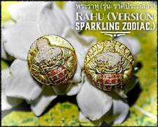 2X Rahu Sparkling Zodiac Phra Arjarn O Thai Amulet Protection Lucky Wealth