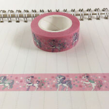 10m Roll Cute Pink Unicorn Masking Washi Tape Paper Kawaii Scrapbooking Tools